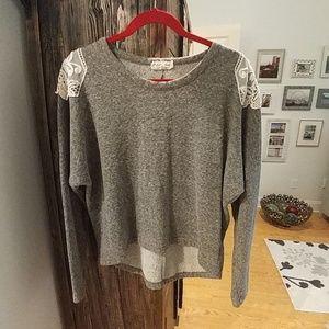 Lili Closet Spaulder Lace Sweater